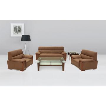 ... China Luxury Leather Sofa Office Furniture Reception Room PU Sofa Set  ...