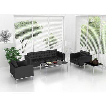 Office 3 Seater Pu Sofa Set