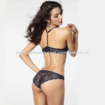 58d505d0fcb58 ... China Sexy Women's Lingerie Underwear Sets Front Closure Push Up Bra  with Wire and Traceless Panty ...