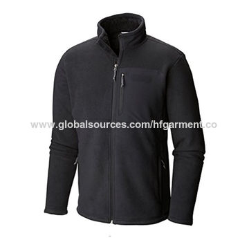 China Super soft thick fleece jacket with chest pocket for men on ...