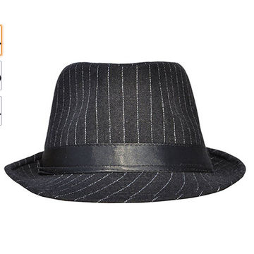 d94abfa5d31 ... China Simplicity Unisex Manhattan Structured Gangster Trilby Fedora Hat  ...