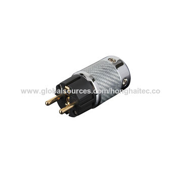 China Hi-end FI-50M&FI-50 HiFi Rhodium AC Power Plug Connector