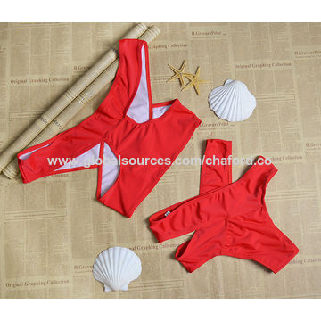 Women's swimsuits with off shoulder design