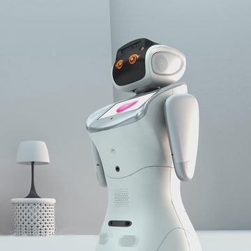 Voice controlled intelligent interactive reception robot for supermarket and hall