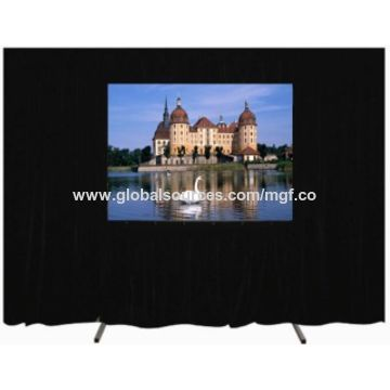 Easy fold projection screen with front and rear fabric optional for outdoor movie show
