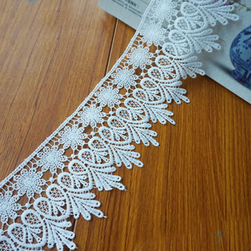 Chemical lace trim,all over cotton embroidery lace trim