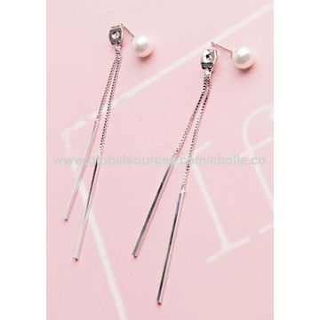 China Simple Temperament Designs Earring Thread Long Tassel