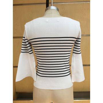 China Women's 65% viscose 35% nylon knitted pullover