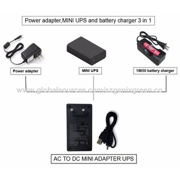 Power adapter and mini UPS