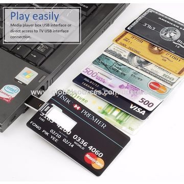 China Business Credit Card Usb Flash Drive In Promotion