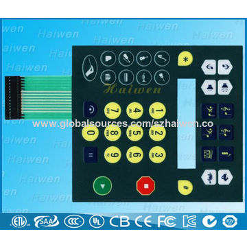 China Membrane keypad with LED backlight, back illumination