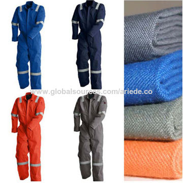 c52df9057dd7 ... China Orange Red and Navy Blue FRC Clothing Flame Resistant Cotton  Coverall with Reflective Band ...