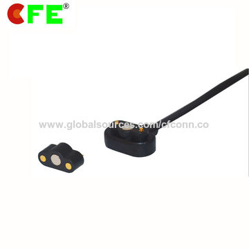 Male and Female Magnetic Power Connector for Pet Wearable Products