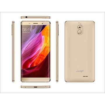 New 5-inch HD On-cell Bezel-less Screen MT6737 Quad-core 4G LTE Smartphone with Fingerprint