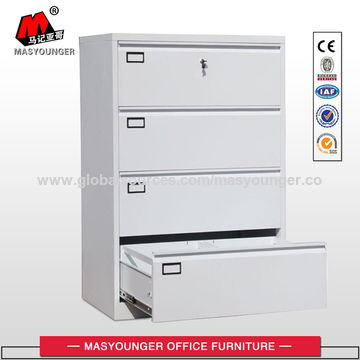 ... China Lateral Steel Filing Cabinet Specifications 4 Drawers File Cabinet  ...