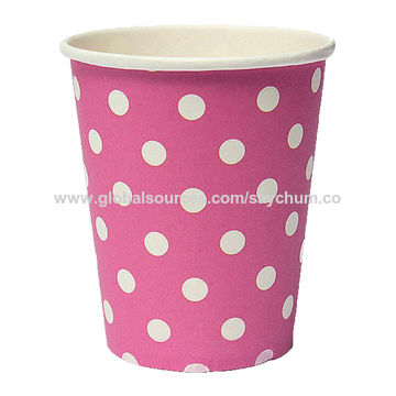 China Best Ing Polka Dot Paper Cups Case Disposable Tableware Wedding Birthday Decorations