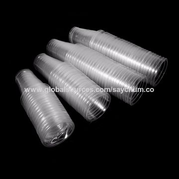 China Hot Selling 50pcs Clear Plastic Disposable Drink Cups New Bulk