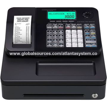 Electronic Cash Register with Easy Paper Loading and 9V Cash Drawer