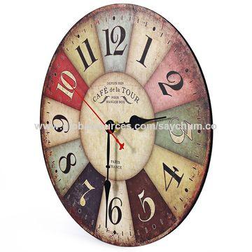 China Artistic Silent Retro Creative European Style Wall Clock ...