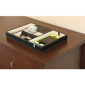 china menu0027s valet tray organizer for dresser top deluxe leather storage box great watch