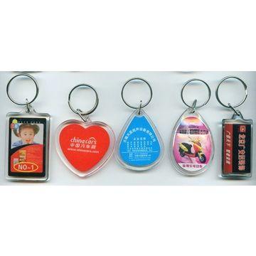 China Custom Logo Acrylic keychains, Various Shapes, Colors