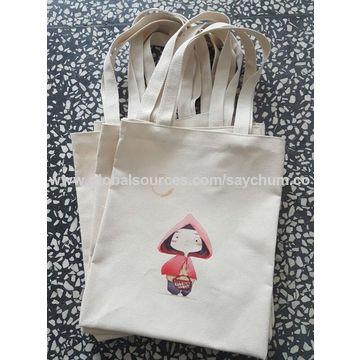 China Custom Logo Printing Cotton Bag Canvas Tote Cloth