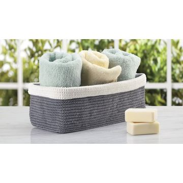 ... China Knit Bathroom Storage Organizer Bin For Books, Toilet Paper, Hand  Towels   On ...