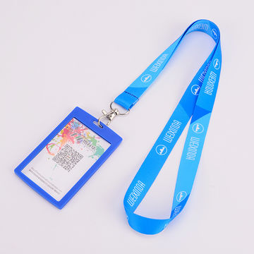 China Pvc Soft Students Worker Id Card Holder Badge With Lanyard