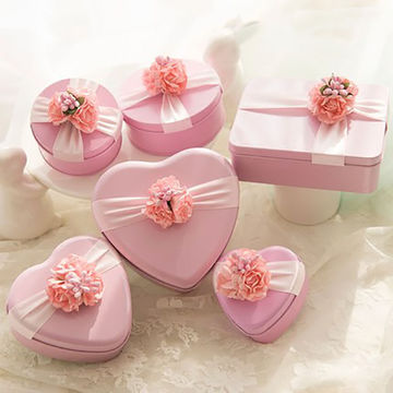 China Heart Shaped Printed Wedding Gift Candy Packaging Tin Box Child Celebration Metal