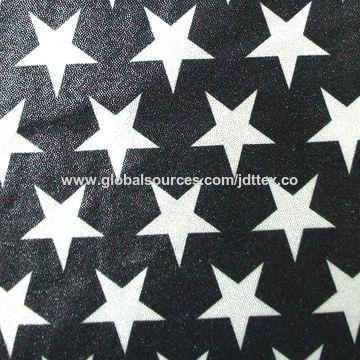 Polyester lycra star print elastane hot stamping foil fabric for swimwear