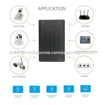 China Good Quality 12V 2A Portable Mini UPS for Router Monitor Alarm