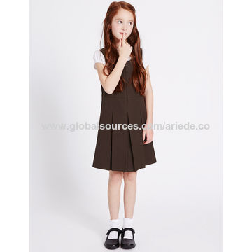 5d3bca354 ... China Girls' Pinafore with Permanent Pleats, 65% Polyester, ...