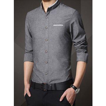Antiarrugas Camisa Larga De China Vestir Respirable Envuelta La 54jLAc3qR