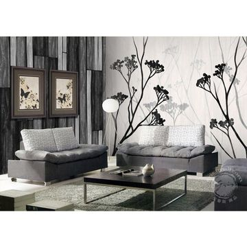 China Gris Dark cucoloris painting design art decor wallpaper
