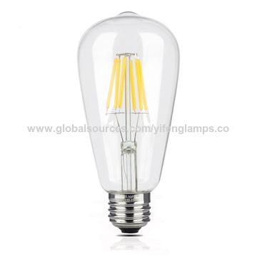 china led edison light bulbs 4w st64 warm color 2300k led vintage