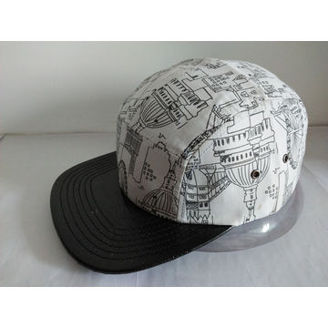 15b2294a28b China 5 panel leather brim snapback cap on Global Sources