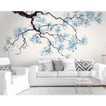 china gris* magnolia floral wallpaper murals chinese watercolorchina gris* magnolia floral wallpaper murals chinese watercolor painting design own bedroom murals
