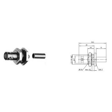china bnc connector, rf coaxial bnc connector, bnc crimp plug for cable  rg179 rg316