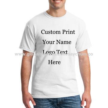 35a2dd81 ... China Customized T-shirt Logo Text Photo Print Customized Printed  Promotional T-shirt ...