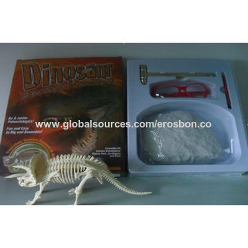 China Archaeology toys for kids dinosaur fossil excavation kit dig
