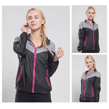 China Washable Headphone Wind Jacket, Reflective Run Jackets