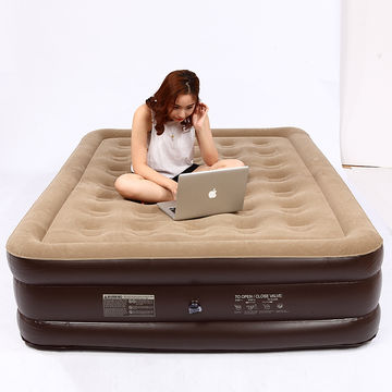China Double height air bed, air mattress with queen size and high
