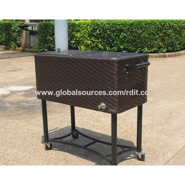 ... Drinks China 80QT PE Rattan Patio Cooler For Beer, ...