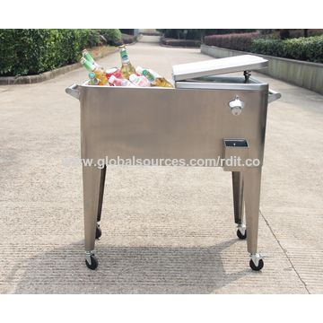 ... Drinks China 80QT Stainless Steel Patio Cooler For Beer, ...