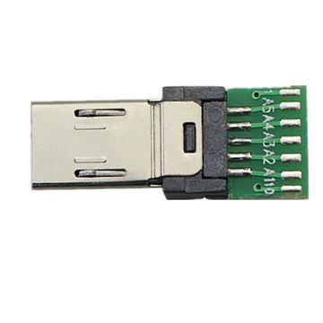 china 15pin micro conector del usb que suelda 15pin con el pwb