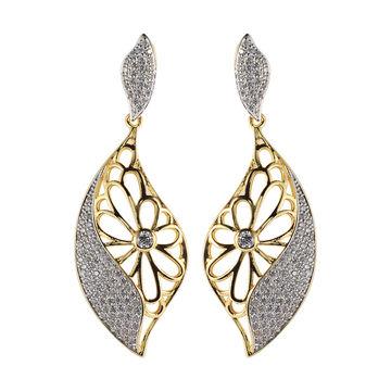 China Italian Design Earrings Cz Jewelry 18k Gold Plated Earring Fashion For Women