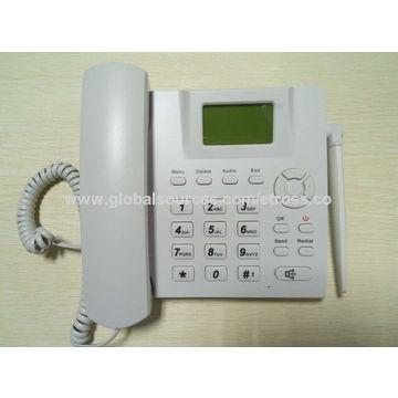 China GSM landline phone with SIM card slot on Global Sources