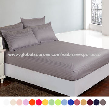 ... India Luxury White Hotel Bed Sheets ...
