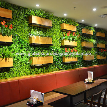 ... China Artificial Evergreen High Simulation Natural Indoor/outdoor Plant  Wall For Restaurant Decoration ...