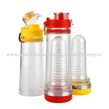 China Walmart Supplier Tritan Material Fruit Infuser Water Bottle for Drinking .